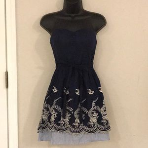 Size Small Navy and White Sundress